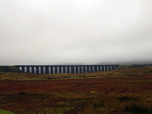 Ribblehead Viaduct on a wet, wintery day, Yorkshire Dales | H is for Home