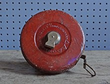 Vintage Abbey leather tape measure