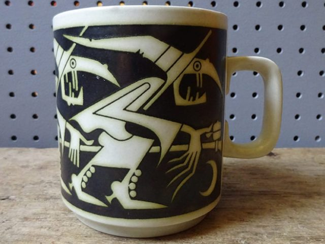 Vintage Hornsea Pottery witch birthday mug | H is for Home