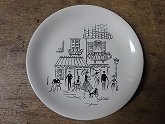 Vintage Alfred Meakin Paris Café side plate | H is for Home