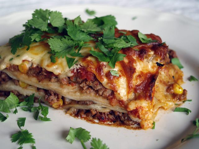 Plate of lasagne