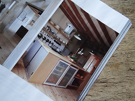Kitchen in 'Simply Beautiful' article from the February 2014 edition of Elle Decoration magazine