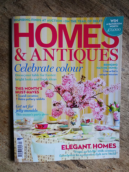 Homes & Antiques April 2014 magazine cover