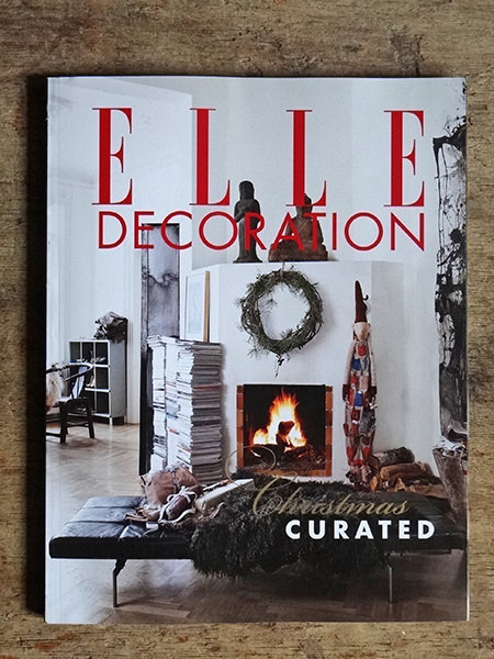 Cover of the December 2014 edition of Elle Decoration Magazine