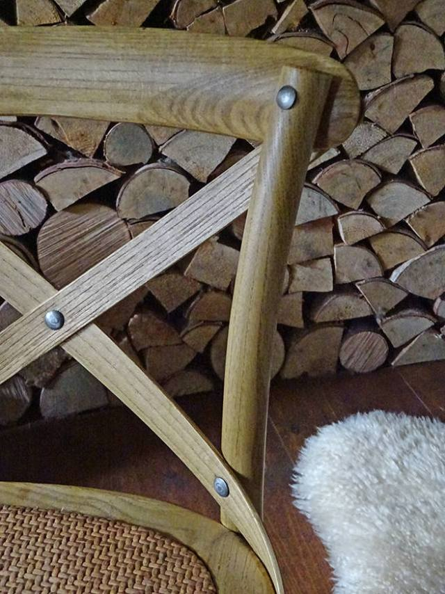 Detail of a child's elm chair from the Pampelune range from PIB | H is for Home