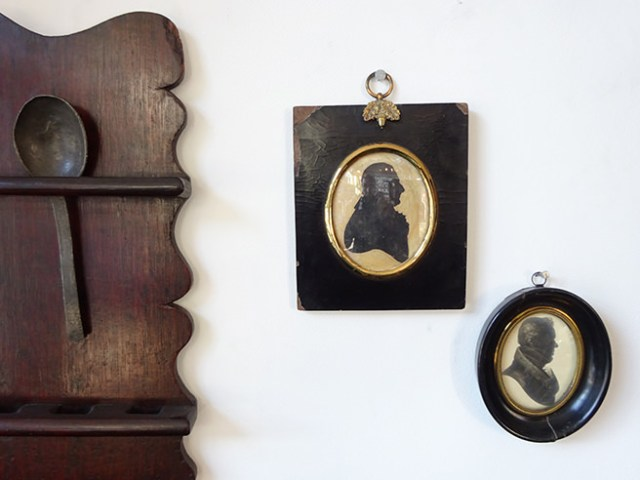 Pair of antique miniatures | H is for Home