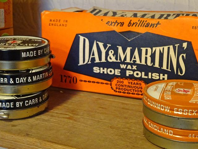 New old stock tins of Day & Martin's wax shoe polish | H is for Home