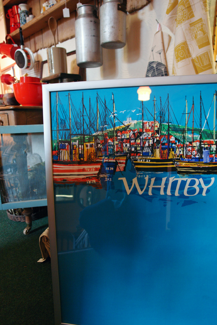 framed original vintage 'Whitby' travel poster