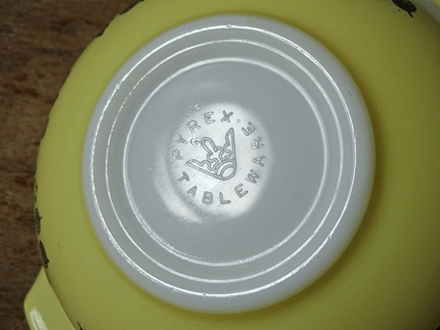 Detail of Pyrex Tableware stamp | H is for Home