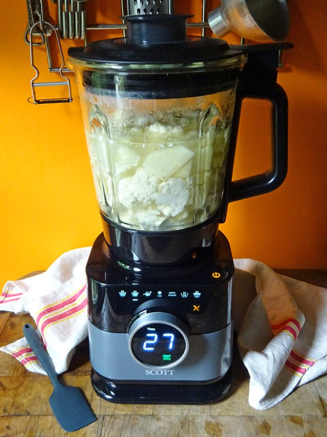 Scott Simplissimo Chef all-in-one cook blender with soup ingredients within | H is for Home