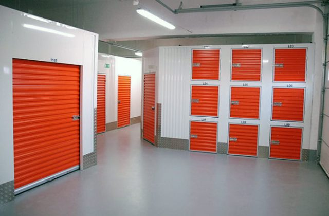 Different sized seld-storage units