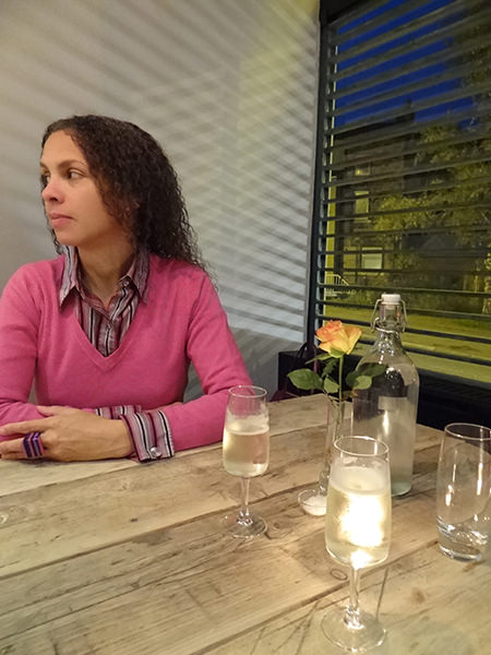 Adelle at Site Pizzeria in Todmorden on its opening night