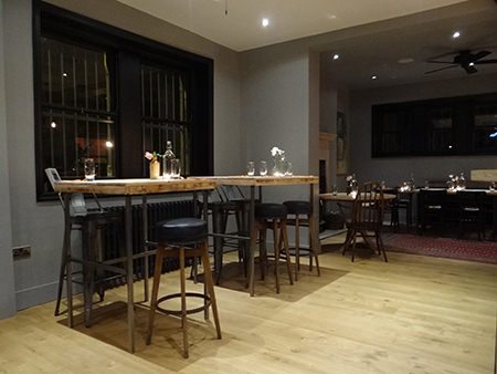 Site Pizzeria in Todmorden on its opening night