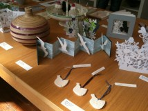 tabletop of various art & craft works available at Snug Gallery in Hebden Bridge