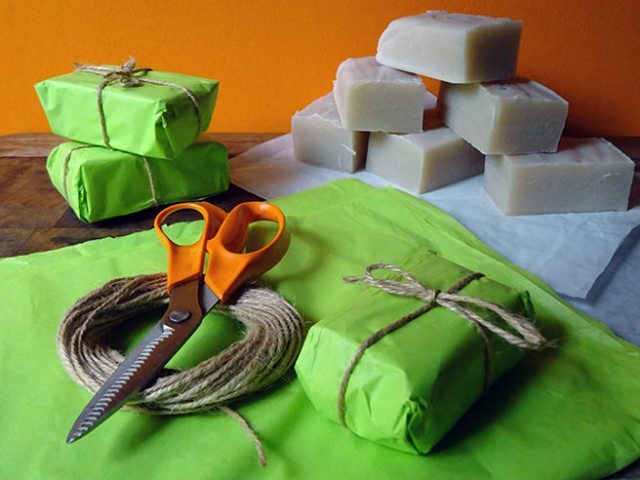 Wrapping hand-made vanilla soap | H is for Home