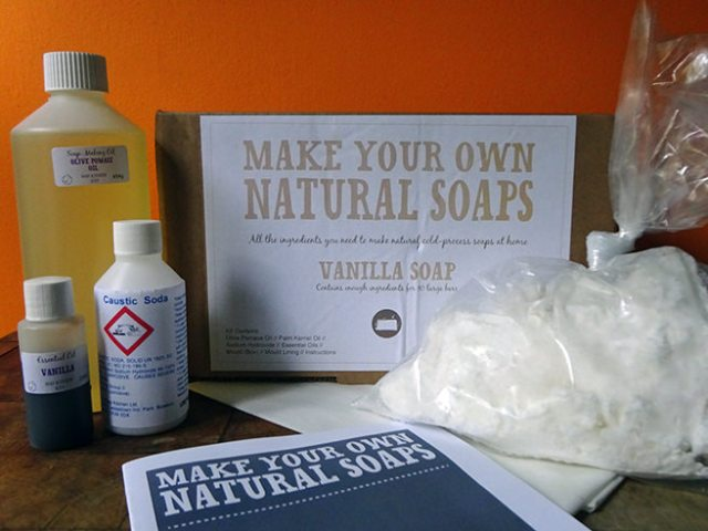 Vanilla soap making kit from The Soap Kitchen | H is for Home