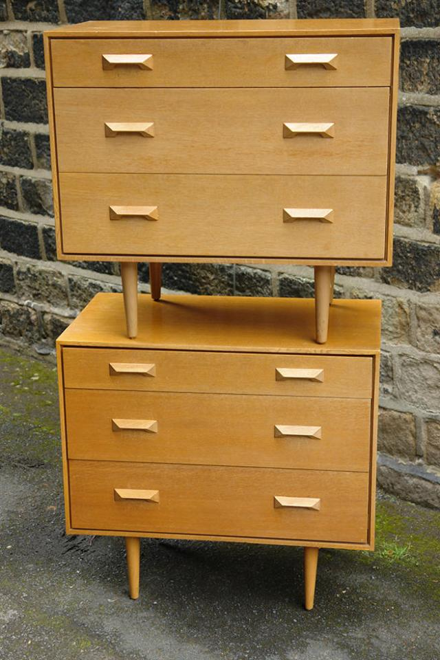 Pair of vintage Stag Furniture chest of drawers stacked one on top of the other | H is for Home