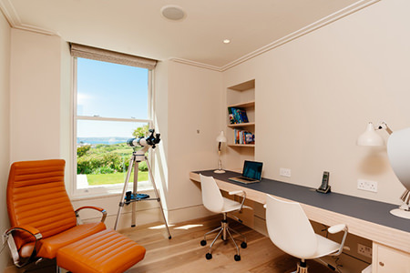 Spare room being used as a home office
