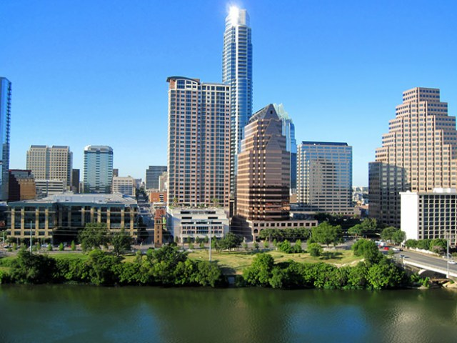 Austin waterfront and skyline