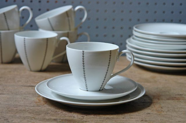 Set of Thomas trios with pattern designed by Eva Striker-Zeisel | H is for Home
