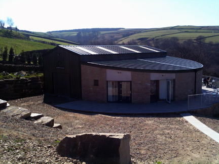 View of the Holmfirth Vineyard restaurant & sun terrace | H is for Home
