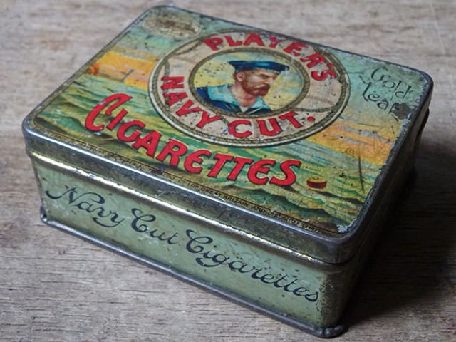 Vintage Player's Navy Cut Cigarettes tin | H is for Home
