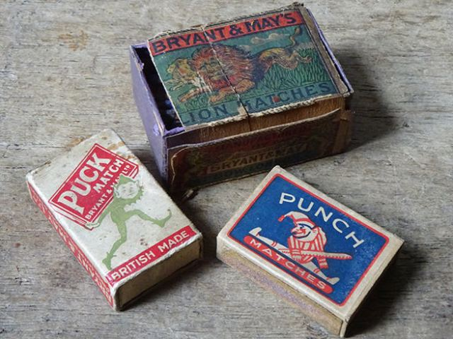 Trio of vintage matchboxes | H is for Home