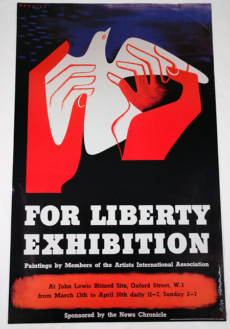 Vintage 'For Liberty' exhibition poster