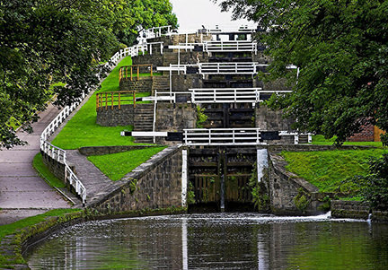 Five Rise Locks in Bingley