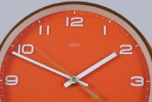 Vintage orange Metamec wall clock | H is for Home