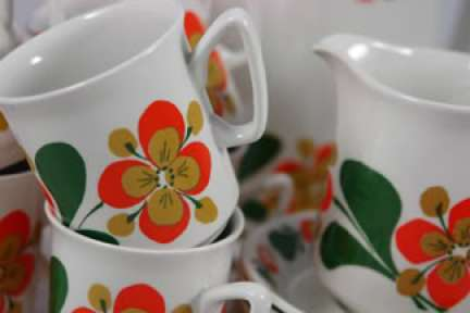 vintage Stavangerflint 'June' coffee set