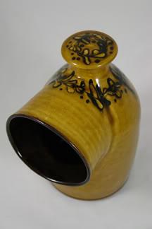 Vintage glazed pottery salt pig | H is for Home