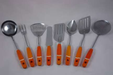 set of orange vintage kitchen utensils | H is for Home