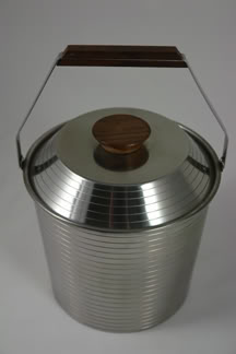 vintage stainless steel ice bucket | H is for Home