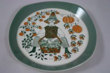 vintage Figgo Flint 'Sicilia' folk decorated plate