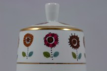 floral decorated lidded pot