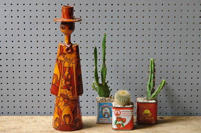 Vintage Abelardo Ruiz candle holder with cacti | H is for Home