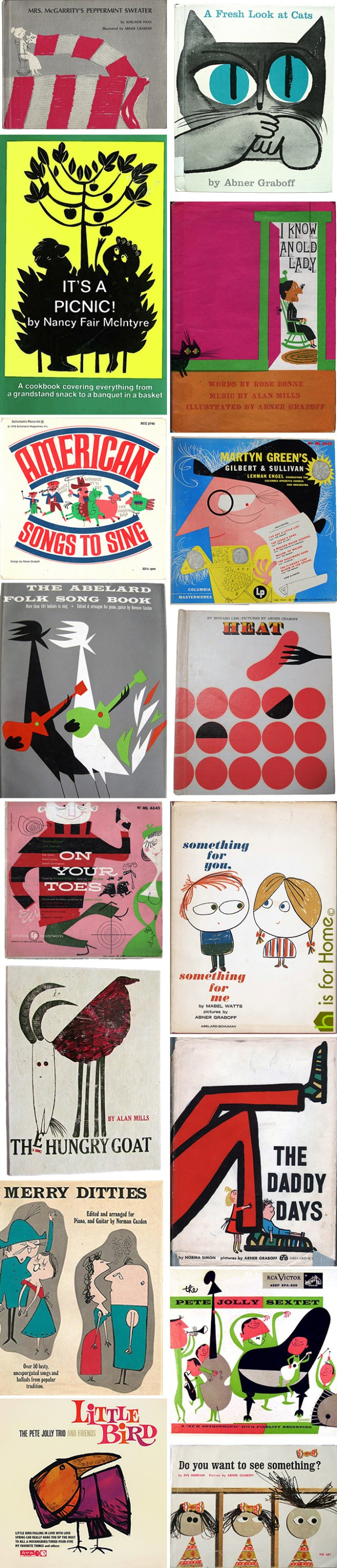 Mosaic of Abner Graboff illustrations | H is for Home
