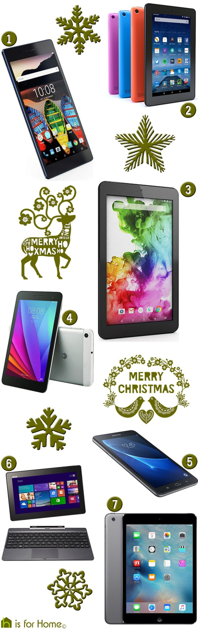 Selection of affordable tablets | H is for Home