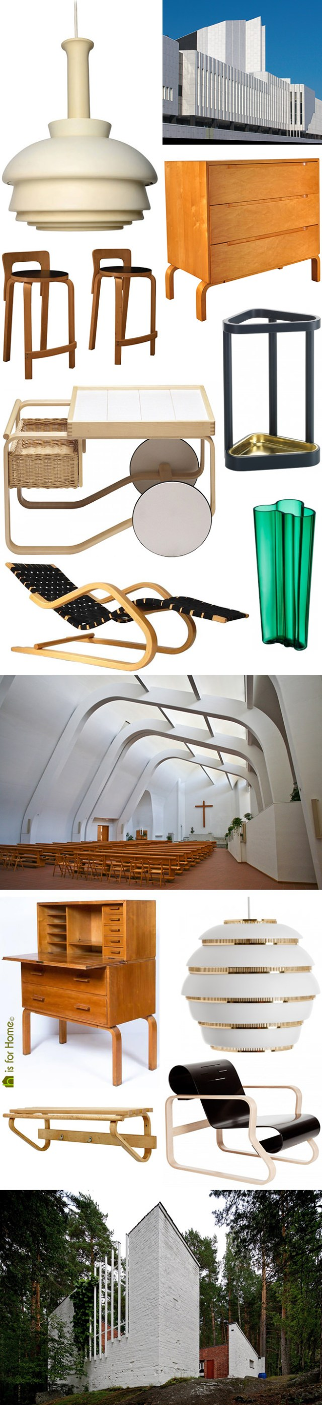 Mosaic of Alvar Aalto designs | H is for Home