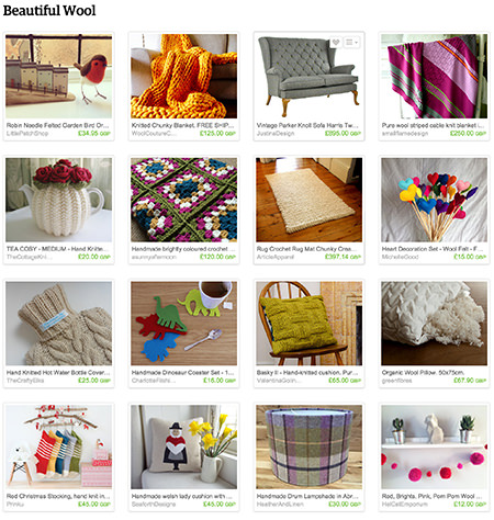 'Beautiful Wool' Etsy List curated by H is for Home