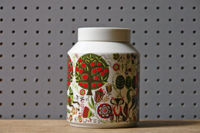Vintage Bidasoa porcelain lidded pot | H is for Home