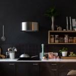 Get their look: Black on black kitchen