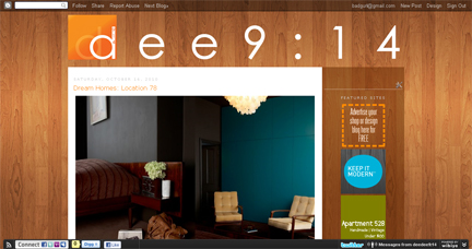 screenshot of Dee Adams' dee9:14 blog   H is for Home