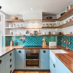 Get their Look: Blue & copper kitchen