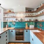Get their Look: Blue & copper kitchen