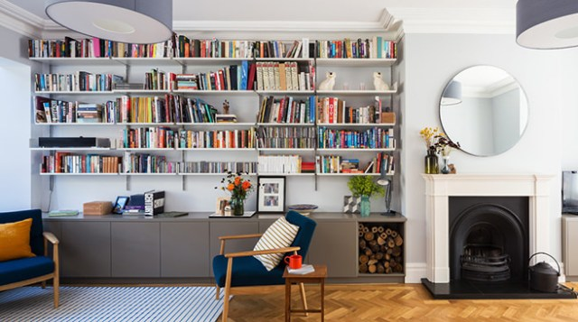 Book-filled sitting room | H is for Home