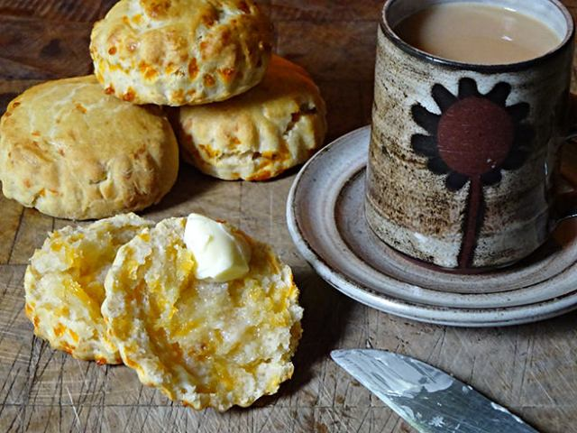 Buttered, home-made red Leicester cheese scones | H is for Home #recipe #scones