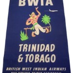 Wednesday Wish: vintage BWIA Trinidad & Tobago travel poster