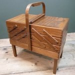 Charity Vintage: Cantilever sewing box